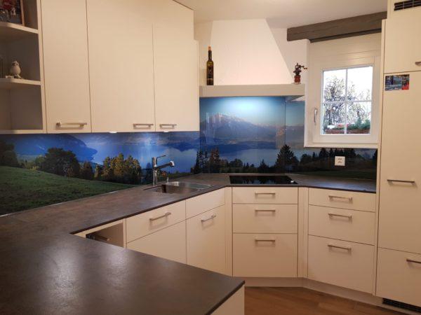 Küchenrückwand mit Motivdruck