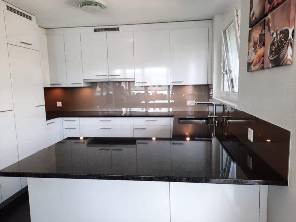 Küchenrückwand Rückseite in RAL 1035