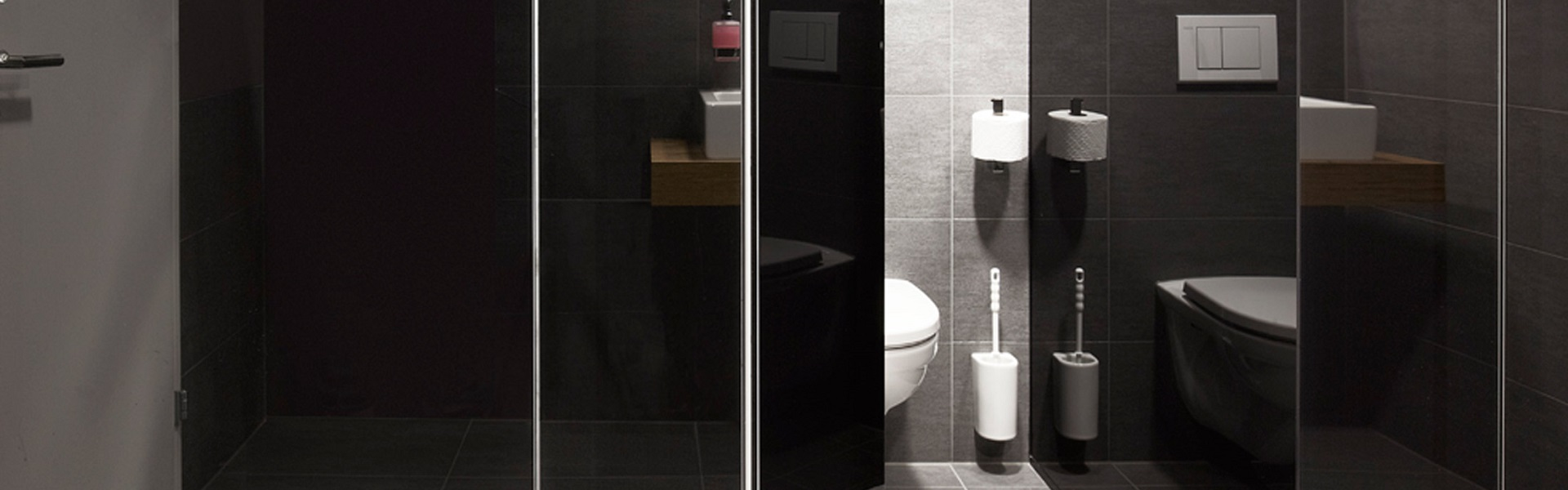 wc trennw nde glas nussbaum ag aarberg. Black Bedroom Furniture Sets. Home Design Ideas